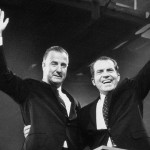 Spiro Agnew and Richard Nixon