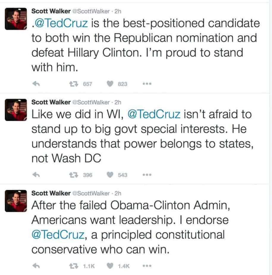 walker endorsements
