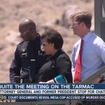 meeting on tarmac