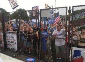 Bernie supporters locked out of the DNC.